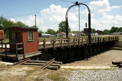 Railroad turntable at Steam Railroad Institute in Owosso, Michigan