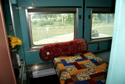 Interior of sleeping car at the Steam Railroad Institute in Owosso, Michigan