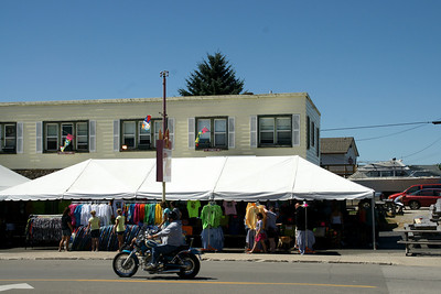 "Downtown Caseville Michigan during ""Cheeseburger in Caseville"" festival"
