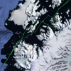 Voyage track down the Antarctic Peninsula and through the Gerlache Strait.