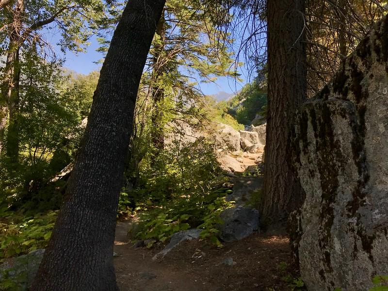 The rockfall at the base of Grand Sentinel