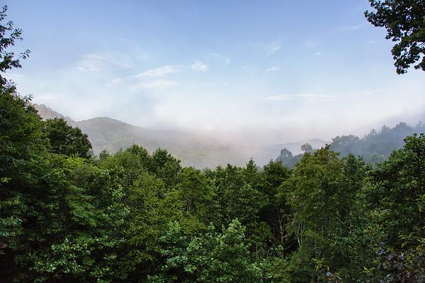 The view from Jilll's cabin, Blue Ridge