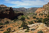 View looking down on the Fremont River valley in Capitol Reef NP