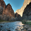 Virgin River, along the Riverside Trail, just south of the infamous Narrows Trail