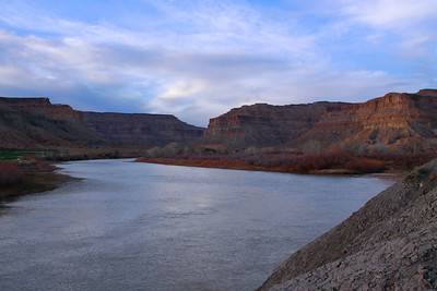 The Green River at sunset, Utah.