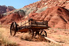 Old wagon near Gifford house, Torrey, Utah