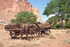 Rusted harvesting implement near Grafton Utah