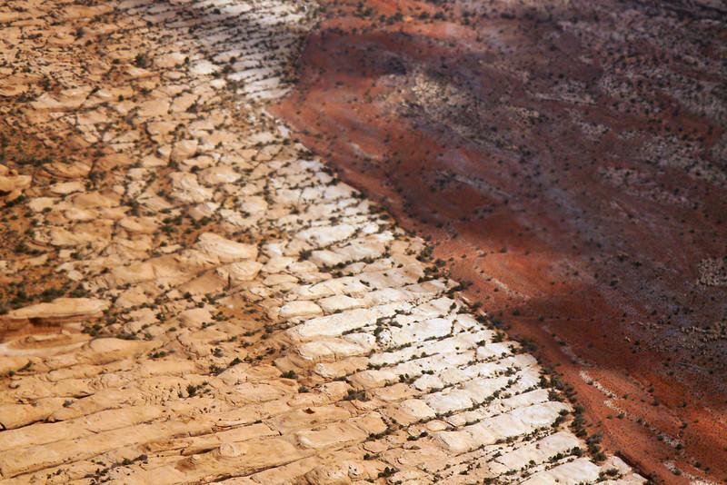 Aerial view around Moab, Utah.