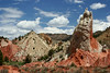 Strange rock formations and cinder cones along the Cottonwood Canyon road, Route 12, Utah
