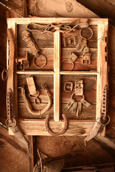 "Historic ""tools of the trade"", Frontier Town, Kanab, Utah"