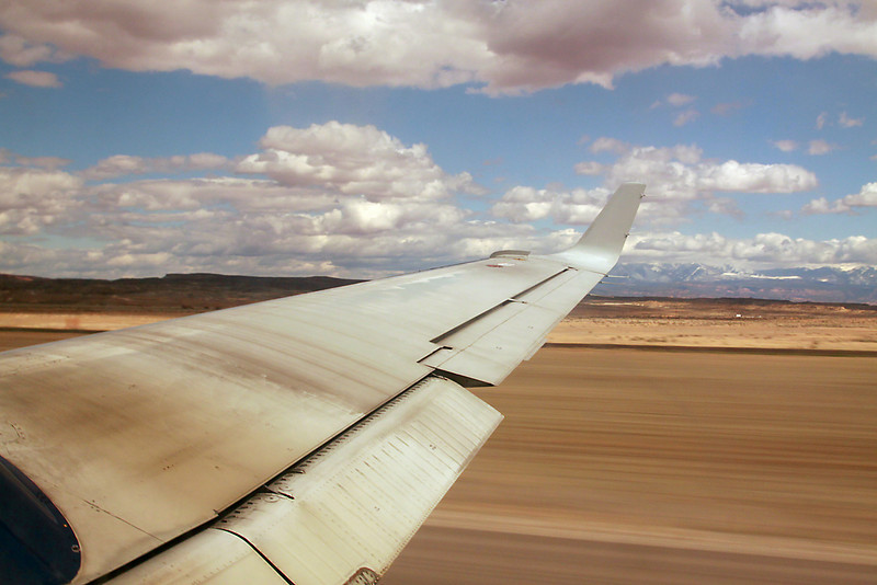 Taking off from Moab, Utah.