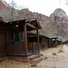 Cabins at Zion National Park, each with a gas fireplace!!!