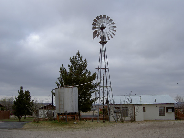 In Marathon TX. Actual working waterpump