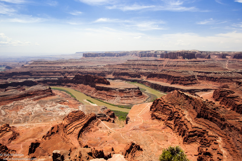 Dead Horse Point State Park is located near Moab in southeastern Utah.  The overlook allows a view of the Colorado River.