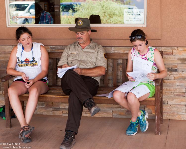 Canyonlands National Park, near Moab, Utah. Island in the Sky District.  Junior Ranger Program.