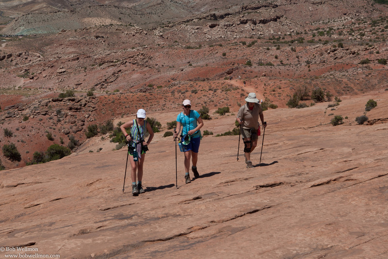 Delicate Arch Trail, Arches National Park, near Moab, UT.