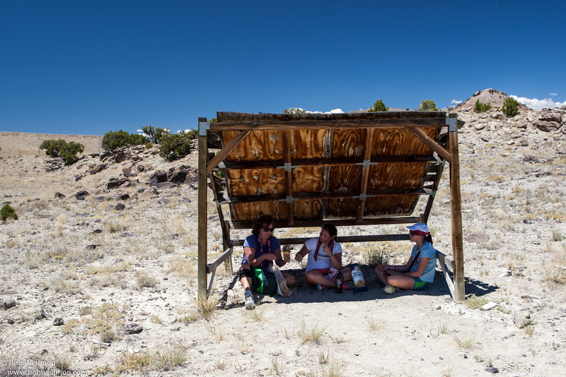 Lunch break - Cleveland-Lloyd Dinosaur Quarry, 30 miles south of Price, Utah.