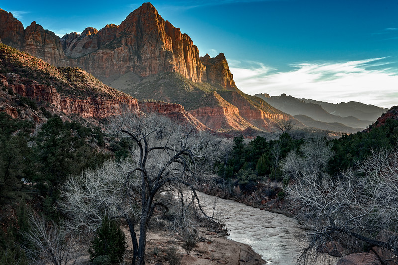 Couldn't pass up the classic shot of the Watchman at sunset, just outside the entrance to Zion.