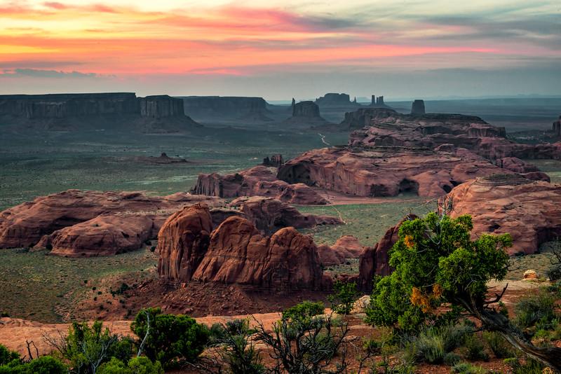 Hunt's Mesa, faint sunset
