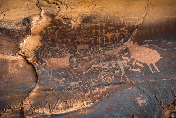 Interesting petroglyph, outside Moab UT.