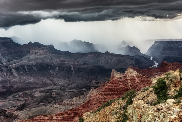 Storm at Desert View