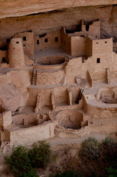 Close up of Kiva at Cliff Palace. Kiva is a Hopi word for ceremonial room.  These underground chambers may be comparable to later churches.