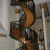 Located at Loretto Church.  The builder quit before the church was finished.  Nuns prayed for help and a stranger came and built this staircase without nails or a support.