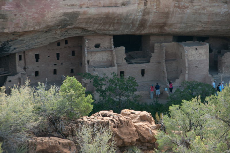 800 yr old Cliff Dwellings at Mesa Verde NP.  Called the Spruce Tree House