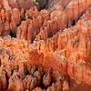 Sunlight tips the Hoodoo's in Bryce Canyon
