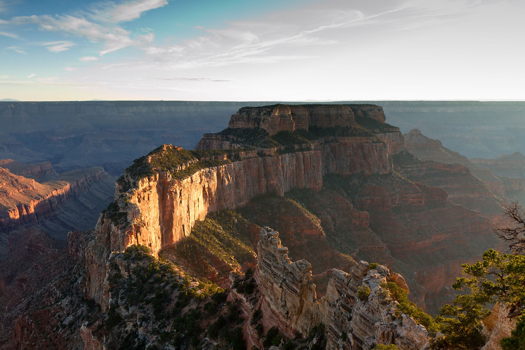 Cape Royal, North Rim. The terrain around the North Rim is much more varied and interesting that that of the South Rim.