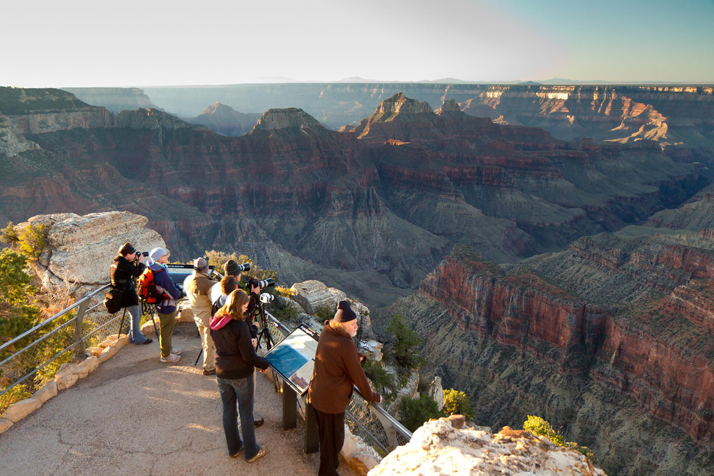 North Rim, Grand Canyon. Sunrise. The North Rim is more remote than the famous South rim, with only a fraction of the visitors.