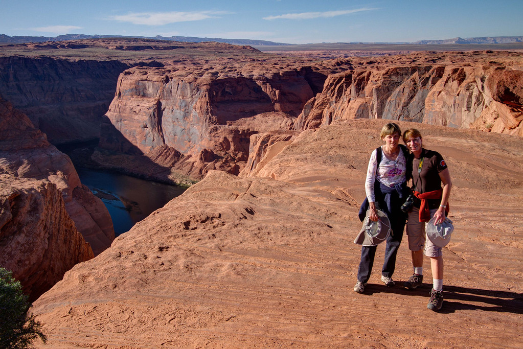 Above the Horseshoe bend