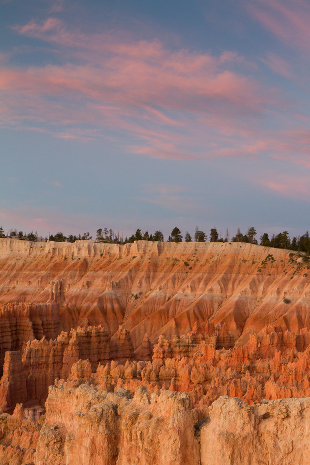 Bryce Canyon, before sunrise, first morning. The colors are muted at this hour