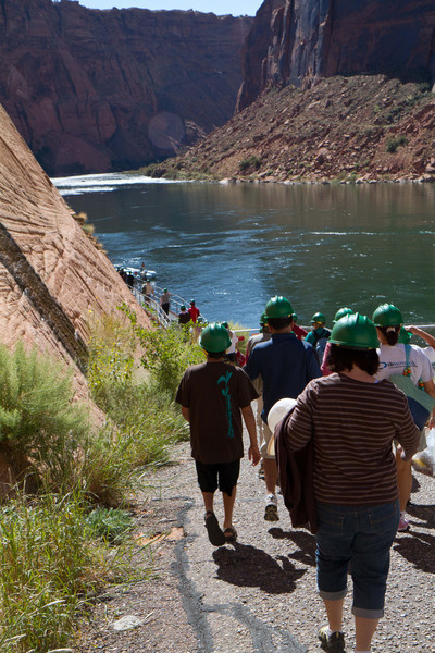 Starting just below the dam, we loaded onto rafts for the 15 mile drift down the gentle river. No rapids on this trip.