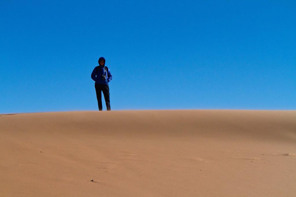 Barbara on the dunes