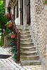 Steps worn through centuries of use, Cancon, Lot-et-Garonne, Aquitaine, southwest France
