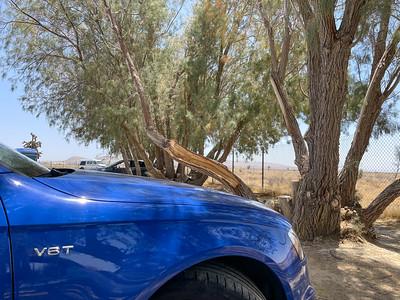 Picnic spot in the desert.