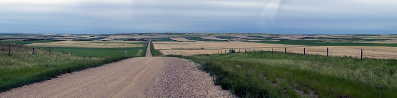 A photomerge of five pictures near Lancer. I took it because of the patterened field off in the distance to the right. Some artifacting on the photomerge process is evident, but I think it's my best photomerge to date.