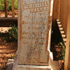 """KILLED BY INDIANS"" on headstone in Grafton ghost town, UT"