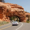 Approach to Bryce Canyon through Red Canyon.