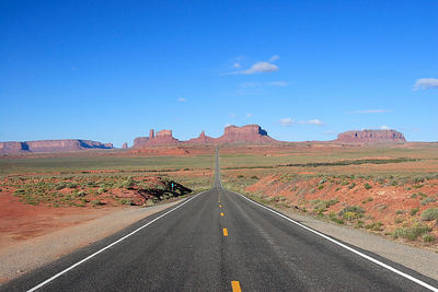 Classic view of Monument Valley as seen in movies and commercials.