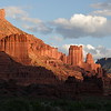 Fisher Towers near Moab, UT at sunset.