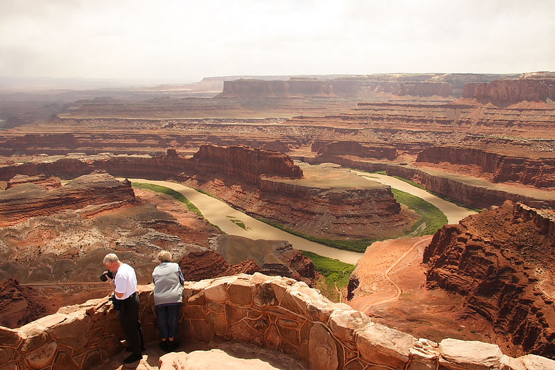 "View of the ""gooseneck"" in the Colorado River from Dead Horse Point SP, UT."