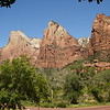 """The """"Three Patriarchs"""" formation in Zion NP."""
