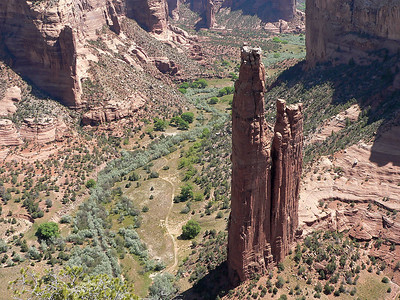 Spider Rock, Canyon de Chelly. 800 ft tall. For comparison the Eiffel Tower is 984 ft tall.