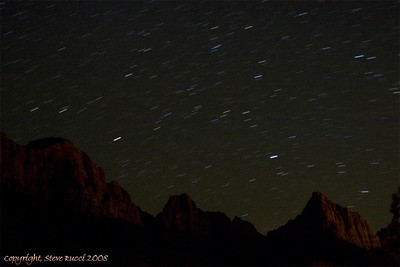 Night sky long exposure at Zion National Park