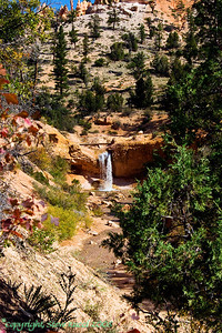 Waterfall in Red Canyon, Utah.