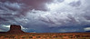 Thunderstorms in Monument Valley