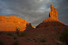 Sunrise shadow in Valley of the Gods