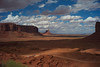 Iconic view of Monument Valley from the Navajo Visitor's Center